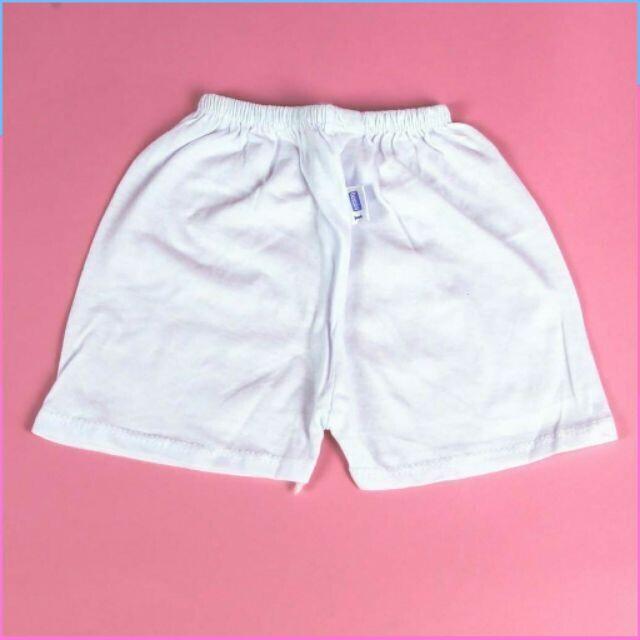 (Hàng Siêu Sốc)Hàng lọc Sét 5 quần ngắn trắng sơ sinh cho bé hiệu Bosinis