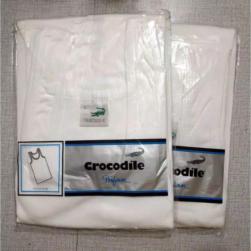 Áo thun trắng In hình cá sấu 801 chính hãng cho nam