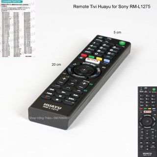 Remote Tivi Sony Huayu RM L1275
