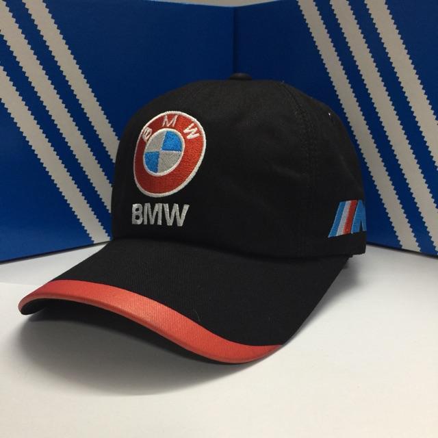 Nón Kết BMW - Màu Đen Viền Đỏ - Logo Nổi BMW ( Hình Thật )