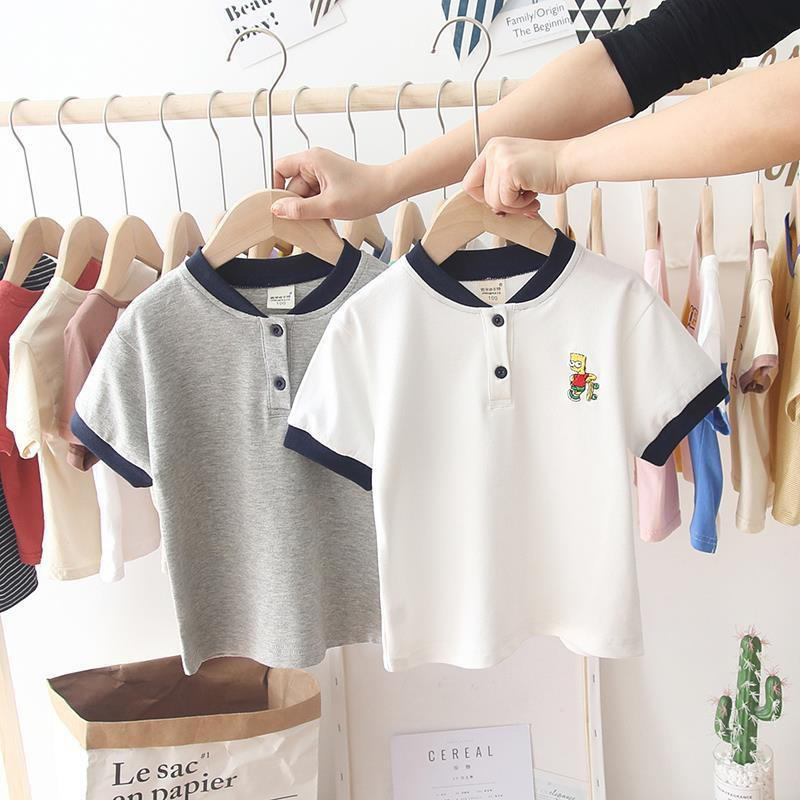 Áo Polo Cotton Thêu Ngực Cho Bé Trai Và Bé Gái Từ 8Kg Đến 28Kg NaNa Store