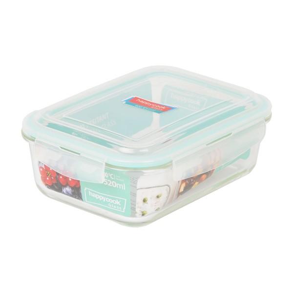 Hộp thuỷ tinh chữ nhật đựng thực phẩm 1520ml Happy Cook Glass HCG-152R