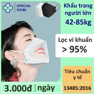 Khẩu trang y tế 3d mask 4 lớp KI STORE, chống bụi mịn lên đến 95% có thể tái sử dụng 2-3 lần. thumbnail