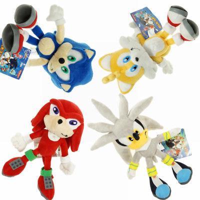 COD!!!Silver Sonic The Hedgehog Figure Stuffed Plush Doll