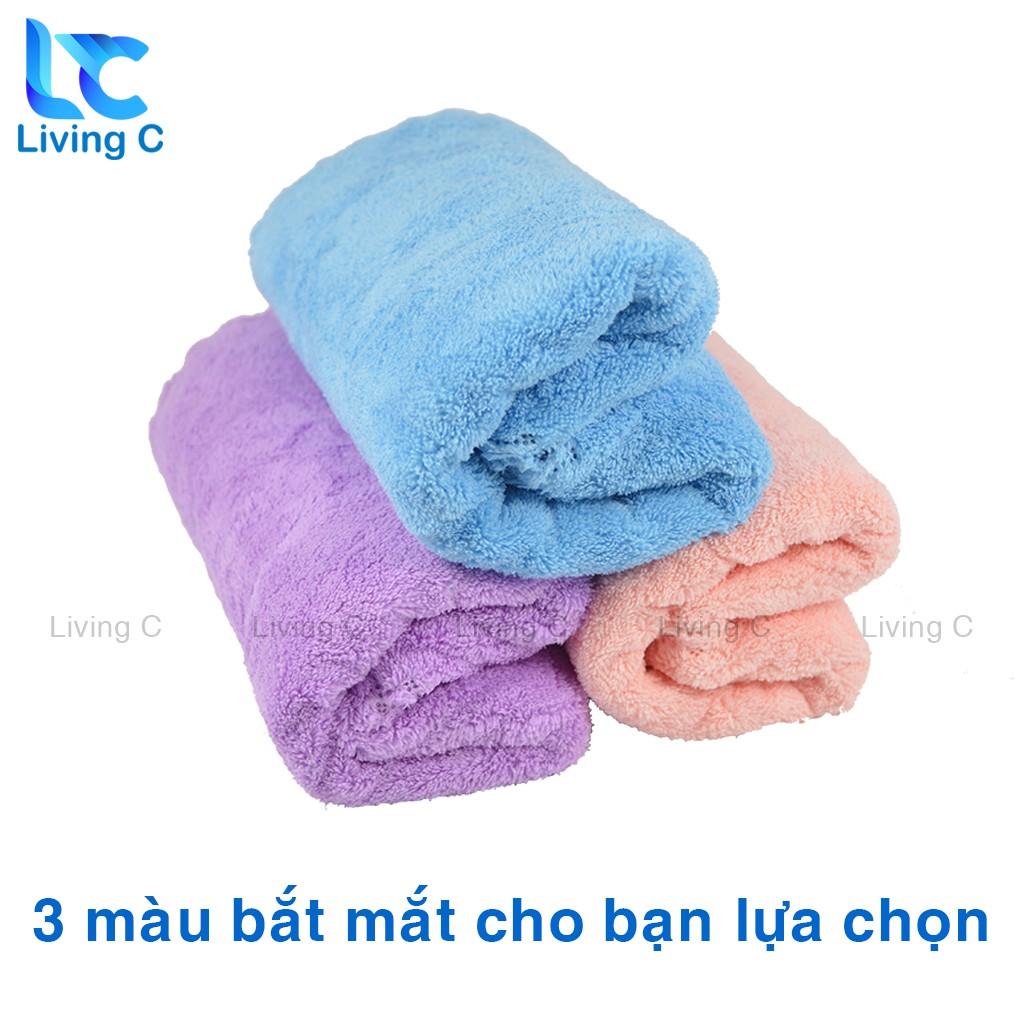 Khăn lau mặt siêu mềm Living C , khăn tắm đa năng mềm mại siêu thấm nước _KSM