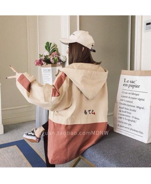 [Mã 1010FASHIONSALE10601 giảm 10K đơn 50K] Áo khoác nữ form rộng ba chữ