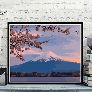 ▥✇tranh sơn dầu kỹ thuật số tự làm màu nước vẽ anime phong cảnh nhân vật tô quà tặng sinh nhật bằng tay bức trang trí ph