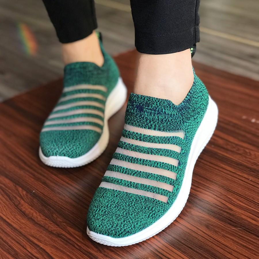 Giày lười nữ không dây hiệu Duwa DHD01-2WPu - MOL VN