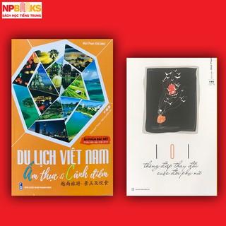 Sách - Combo sách du lịch Việt Nam ẩm thực và cảnh điểm + 101 thông điệp thay đổi cuộc đời phụ nữ song ngữ Trung Việt thumbnail