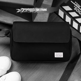 Túi đeo chéo nam mini vải canvas bền bỉ hai màu cơ bản đen, trắng phong cách unisex Hàn Quốc