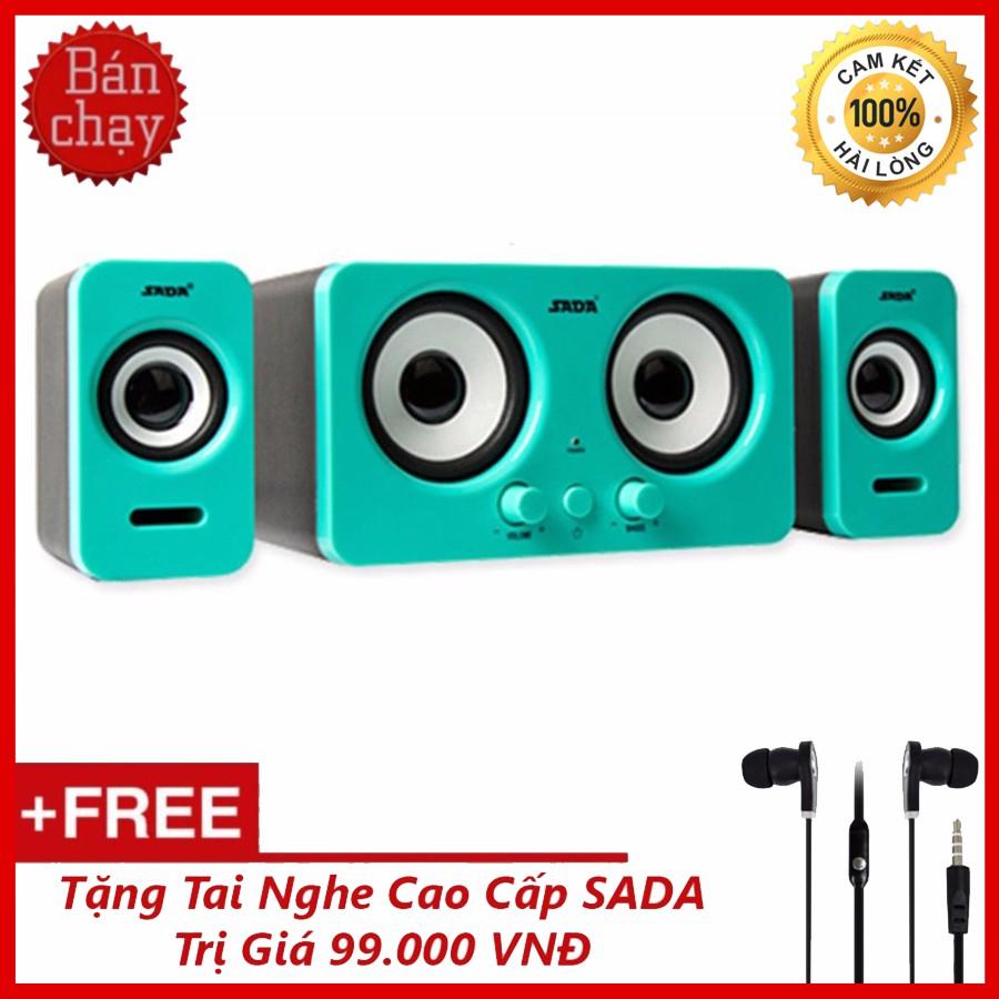 Bộ Loa Máy Tính Để Bàn SADA D-220 + Tặng tai nghe nhét tai Sada cao cấp