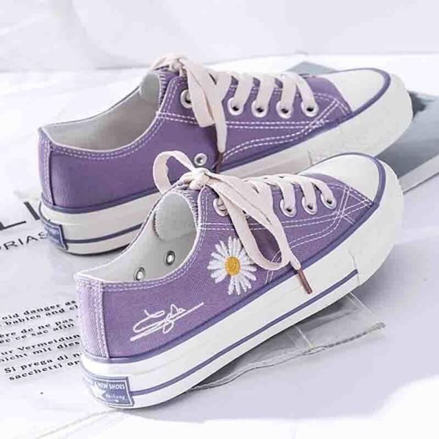 Giày thấp cổ hoa cúc 4 màu