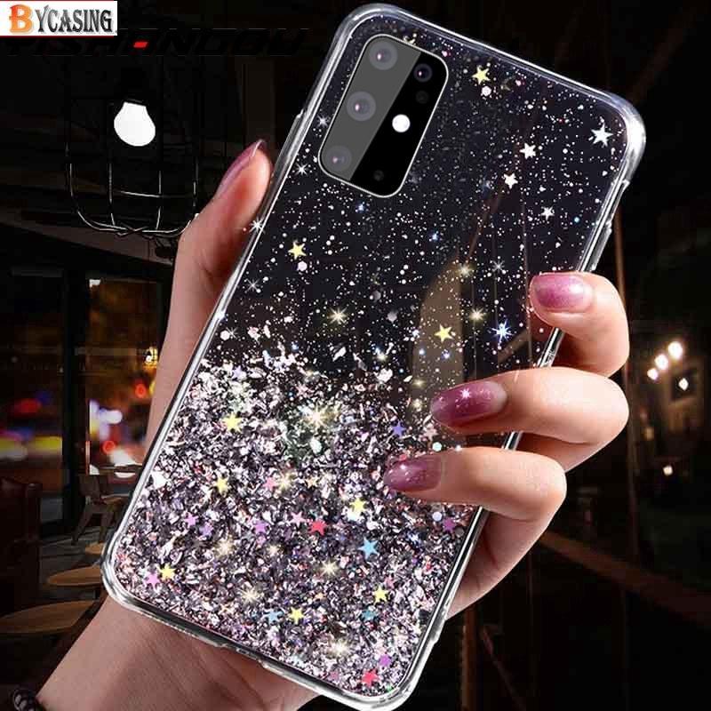 Ốp điện thoại mềm họa tiết sequin lấp lánh cho Samsung Galay A12 A02S A51 A71 A50 S20 Ultra S20 Plus Note 10 lite S10 Lite