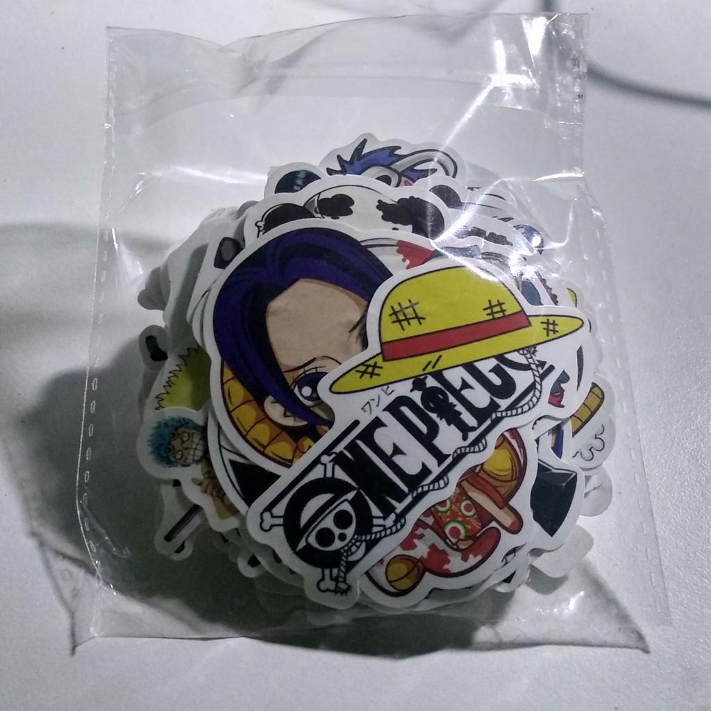 Sticker One Piece dán mũ bảo hiểm, laptop,...
