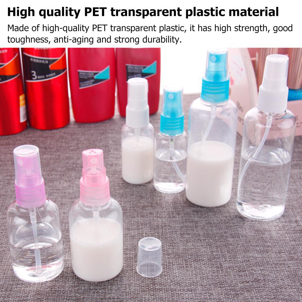 Refillable Travel Lotion 30/50/100ml Clear Perfume Liquid Spray Pump Bottle