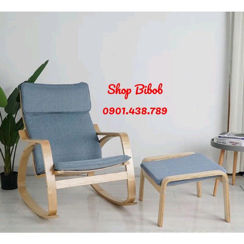 Ghế Thư Giãn Poang Nguyên Bộ Gồm Đôn - Poang Rocking Chair Ikea