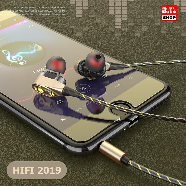 [RẺ VÔ ĐỊCH] Tai Nghe chống ồn HIFI SPORT SUPER BASS 2019 (Có Hộp) - Tặng Bộ Núm + Túi +Kẹp