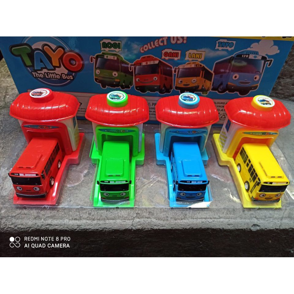 Xe buýt Tayo gồm nhà và xe Đồ chơi trẻ em bộ 4 chiếc xe Tayo the little bus