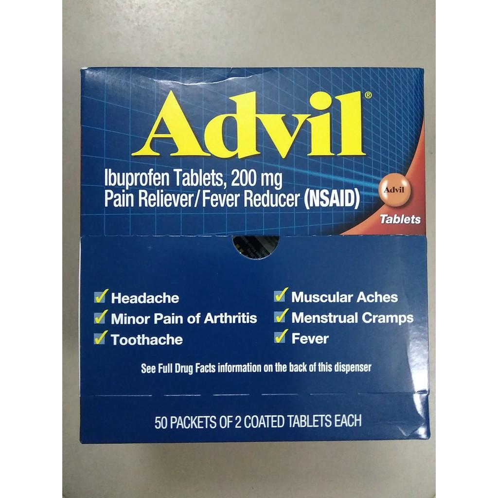 Viên Advil Ibuprofen 200mg