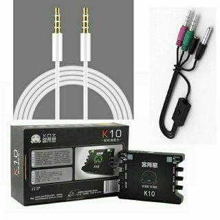 [Mã 159ELSALE hoàn 7% đơn 300K] Combo soundcard XOX K10 và dây livestream Ma2 thumbnail