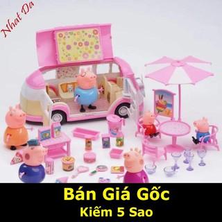 [SIÊU RẺ] Bộ đồ chơi gia đình heo Peppa Pig đi dã ngoại giá rẻ