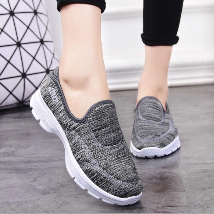 [FREE SHIP] Giày lười nữ giày mọi nữ rẻ đẹp khử mùi thoáng khí -GN363