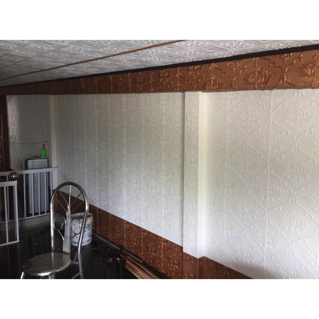 Xốp dán tường 3d - Hello Kitty - Doremon - Hoạt Hình - Vân Gạch Cổ Loại 1 Kích Thước 77 x 70 Cm