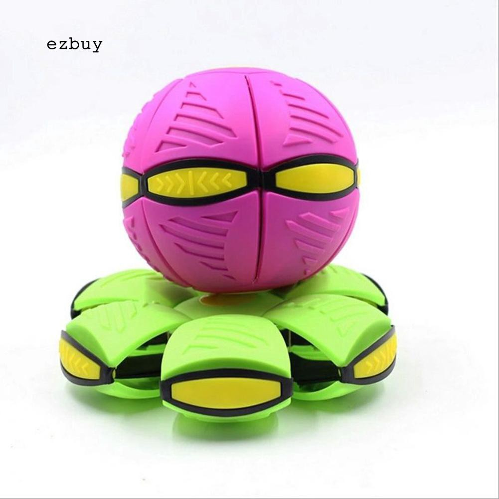 【EY】Magic UFO Deformation Ball LED Light Flying Football Kids Funny Outdoor Toy Gift
