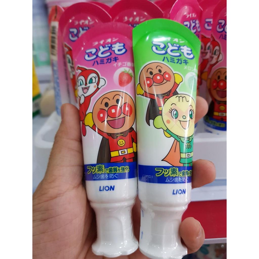 Kem đánh răng trẻ em Lion nội địa Nhật Bản
