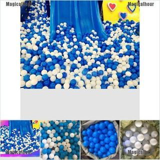 Magicalhour 10pcs/set 7cm White Blue Ball Soft Plastic Ocean Ball Funny Baby Kid Swim Pit Toy