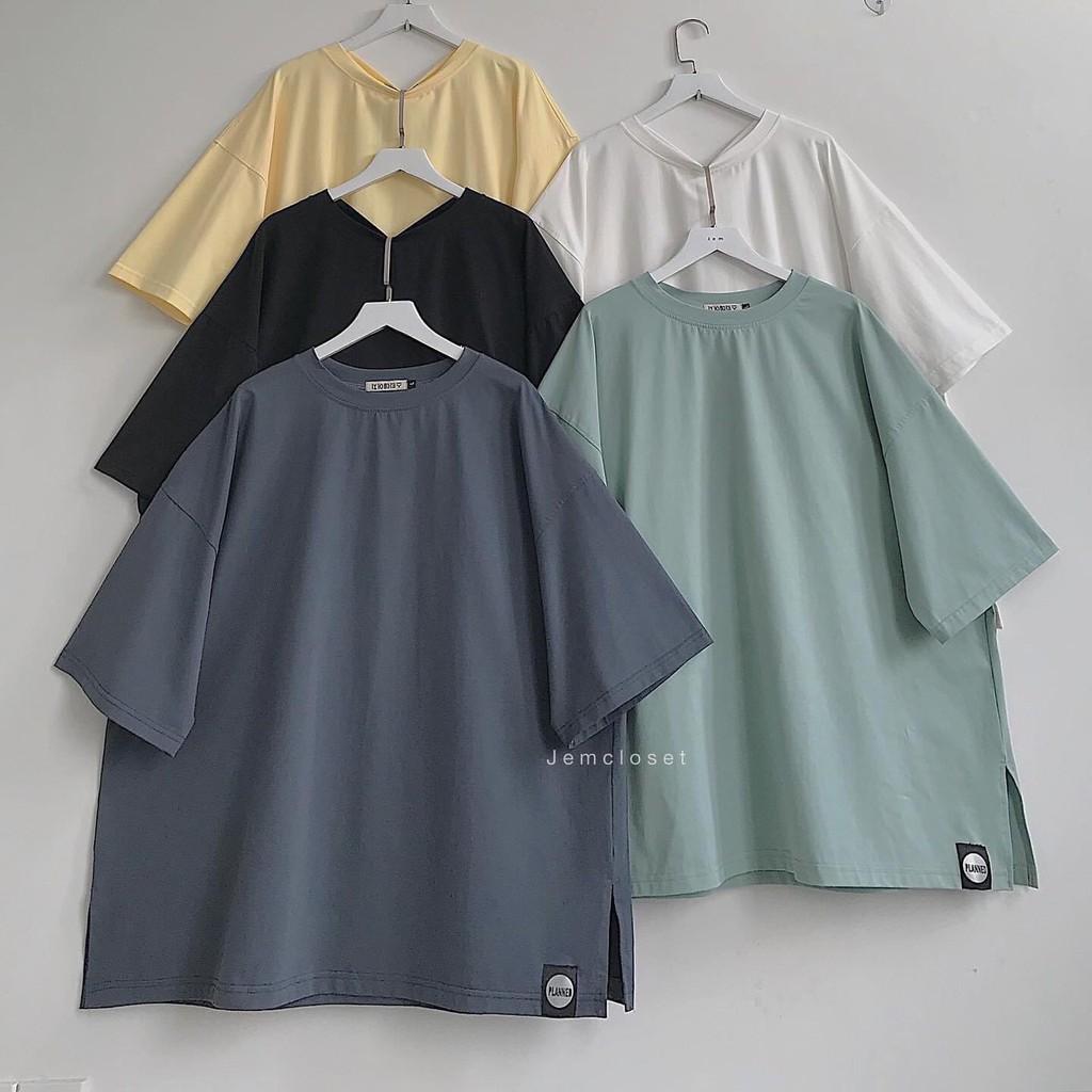 [Mã WASEPRN hoàn 20% xu đơn 99k] [AN22] Áo phông cotton xẻ tà đuôi tôm basic siêu chất form rộng