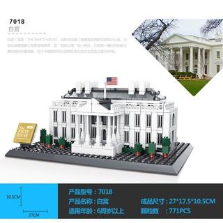 Lego xếp hình White House WANGE-7018 NLG0044-5