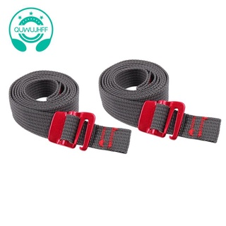 2 Pack Buckle Strap Quick Release Anti Scratch Luggage Binding Strap 2CMx1M for Camping Tent Carpet