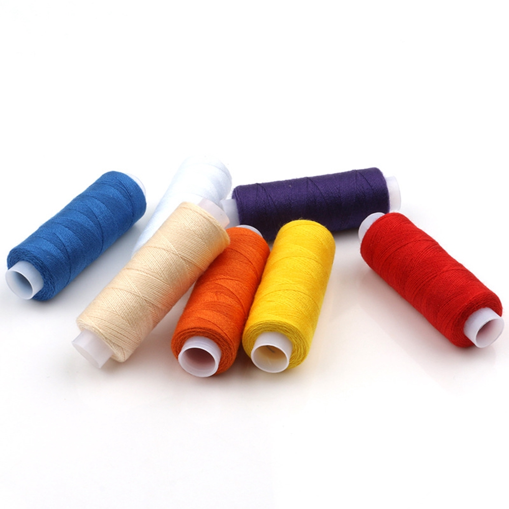 Polyester Hand Stitching Bright Colors Thread 12 Knitting Machine Sewing Reel Dress Finest