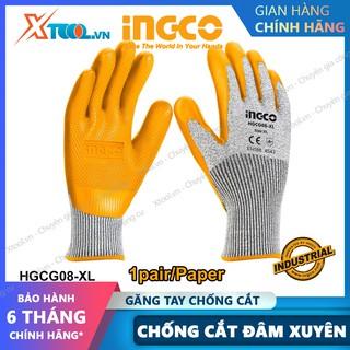 Găng tay bảo hộ lao động cao cấp INGCO HGCG08 bao tay bảo hộ đa năng, chống cắt, mài mòn, đâm xuyên, trơn trượt, xé rách