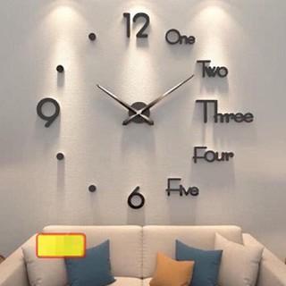 Đồng hồ dán tường DIY (cỡ lớn), mẫu tiếng Anh phá cách siêu sang