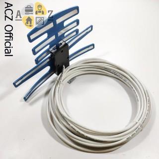 [Mã ELORDER5 giảm 10k đơn 20k] Anten DVB T2 bọc nhựa xanh kèm dây - thu sóng tốt