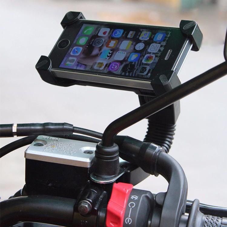 (GIÁ SỈ) Kẹp điện thoại gắn xe máy, mô tô tiện dụng khi đi phượt
