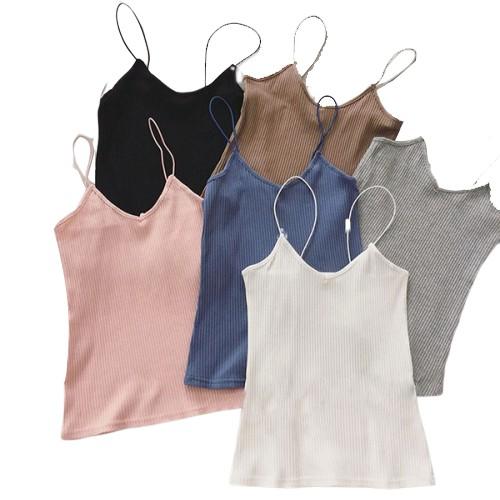 Áo Hai Dây Cổ Chữ V Màu Trắng Quyến Rũ Thời Trang Dành Cho Nữ