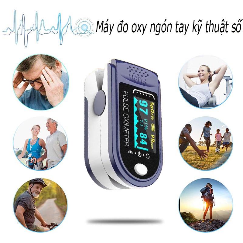 § Máy đo oxy bằng ngón tay kỹ thuật số Độ bão hòa oxy trong máu Máy đo nồng độ oxy bằng ngón tay Máy đo độ bão hòa ngón tay SpO2 PR Máy đo nhịp tim (Không có pin) §