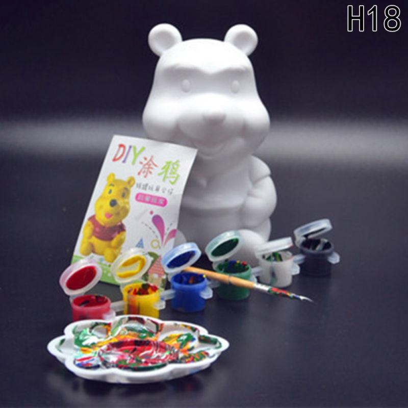 9pcs/set Money Bank Model Kids DIY Craft Painting Kits Gifts Kids Children Toys