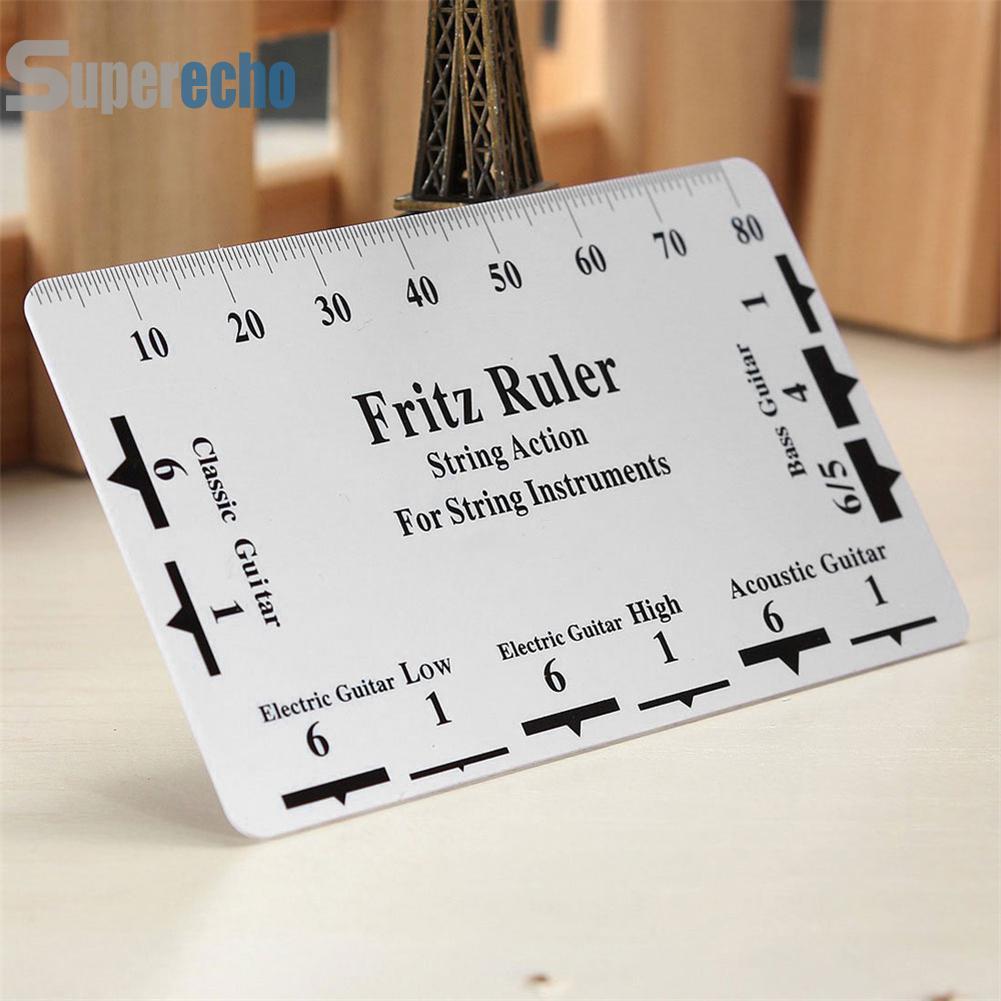 ♦SUP♦Guitar String Action Gauge Fritz Ruler Pitch Ruler Card Luthier Tool