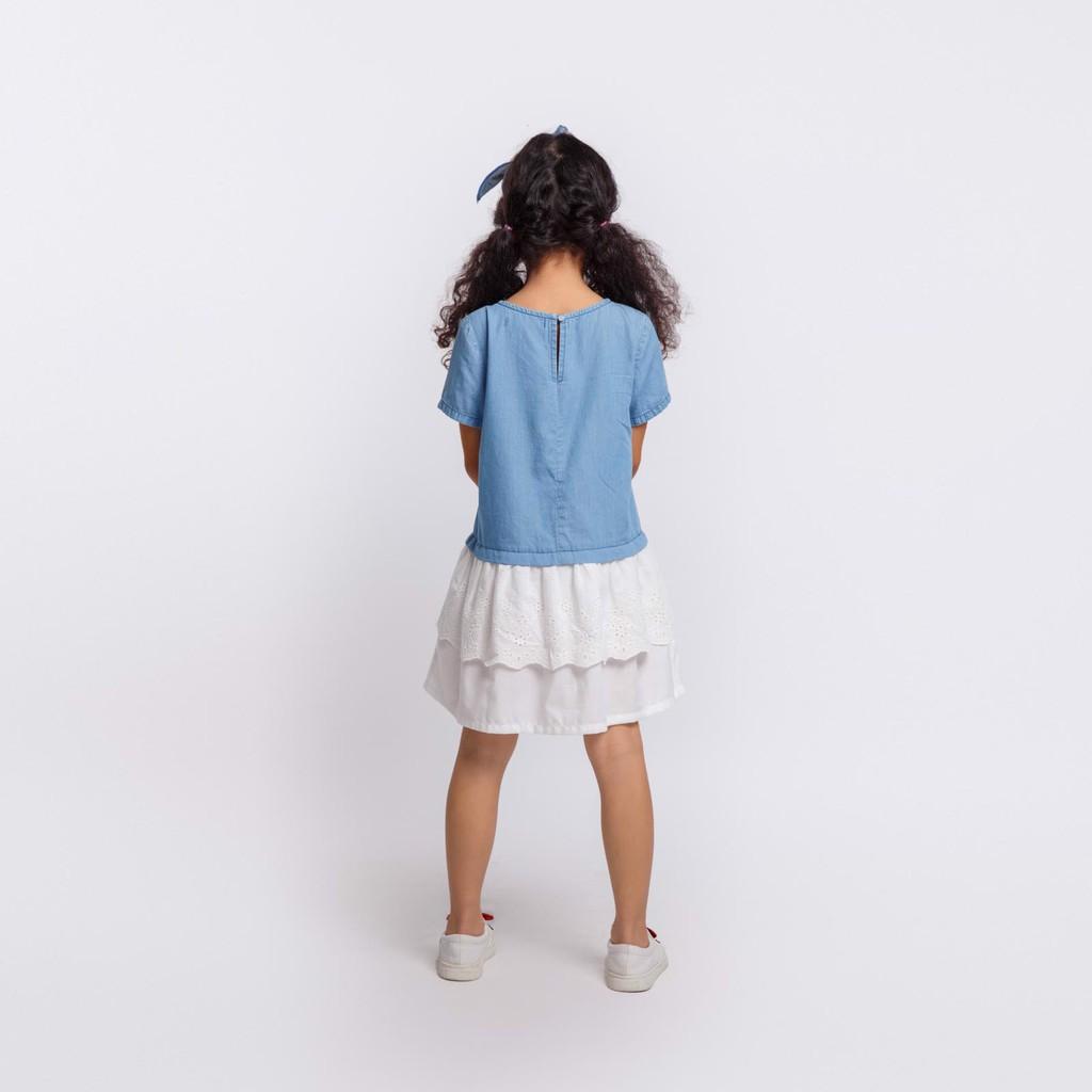 Áo đầm bé gái Feminine contrast lace M.D.K