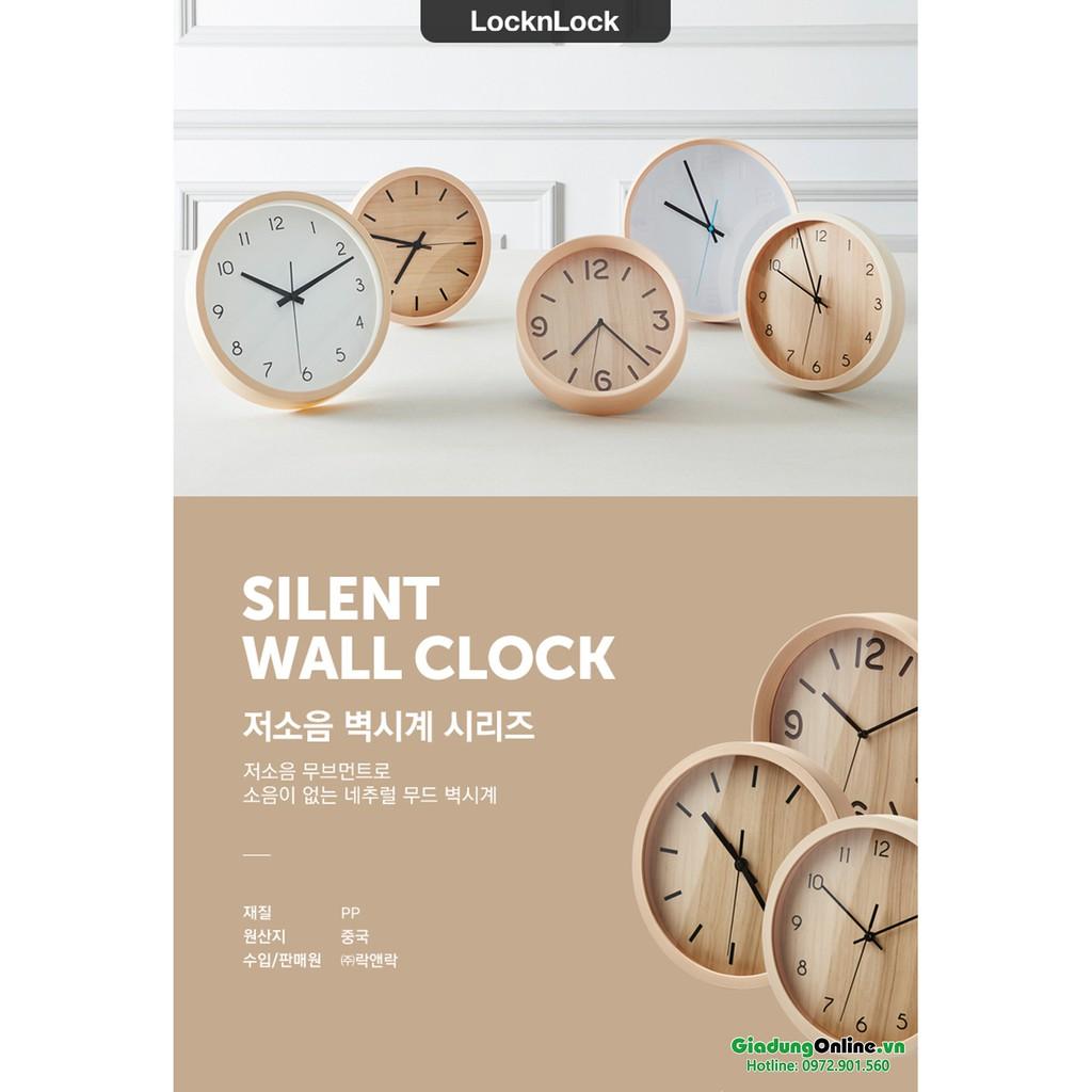 Đồng Hồ Treo Tường Lock&Lock CLK075P / CLK077P (Không phát tiếng động) 25.5cm