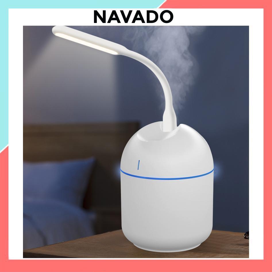 Máy phun sương tạo ẩm mini khuếch tán tinh dầu cho phòng ngủ, điều hòa 200ml cầm tay cắm USB giá rẻ 9801 NAVADO
