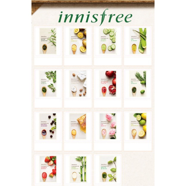 Mặt nạ giấy Innisfree chính hãng Hàn Quốc