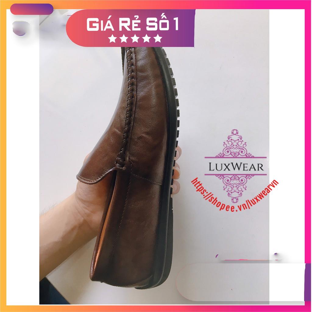 Giày Lười Nam Cao Cấp [DA BÒ THẬT 100%-CÓ VIDEO] Giày lười da sang trọng, đẳng cấp-TẶNG 2 ĐÔI TẤT LƯỜI CAO CẤP