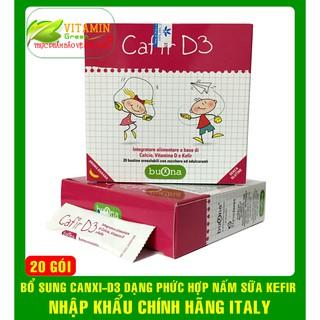 BUONA CAFIR D3 BỔ SUNG CANXI VÀ D3 DẠNG PHỨC HỢP NẤM SỮA KEFIR NHẬP KHẨU CHÍNH HÃNG ITALY thumbnail