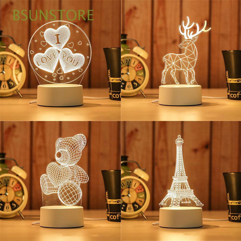 Warm Energy Saving Xmas Party Room Decorative Christmas Gift 3D LED Light