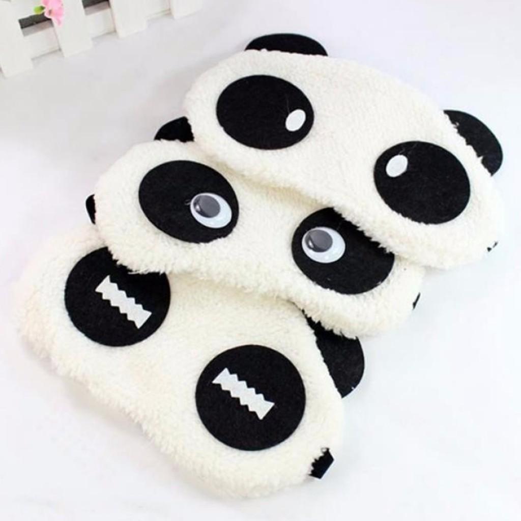 [Mã FAMAYFA giảm 10K đơn 50K] Bộ 2 Tấm Che Mắt Ngủ Hình Gấu Panda
